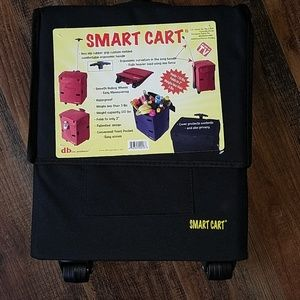 Smart cart rolling tote with adjustable handle